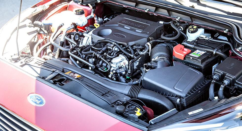 Cylinderavstängning och kamkedja är nyheter på den trecylindriga enlitersmotorn.