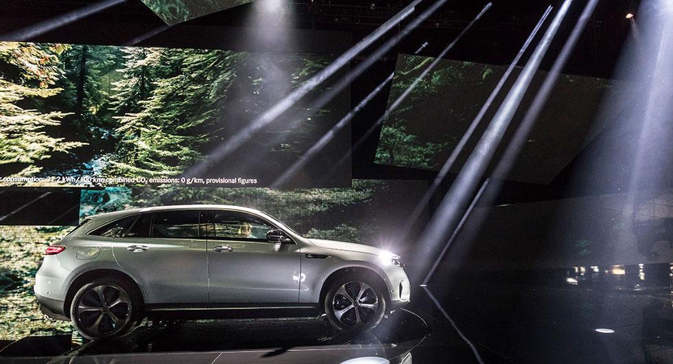 Mercedes EQC går 40 mil på el