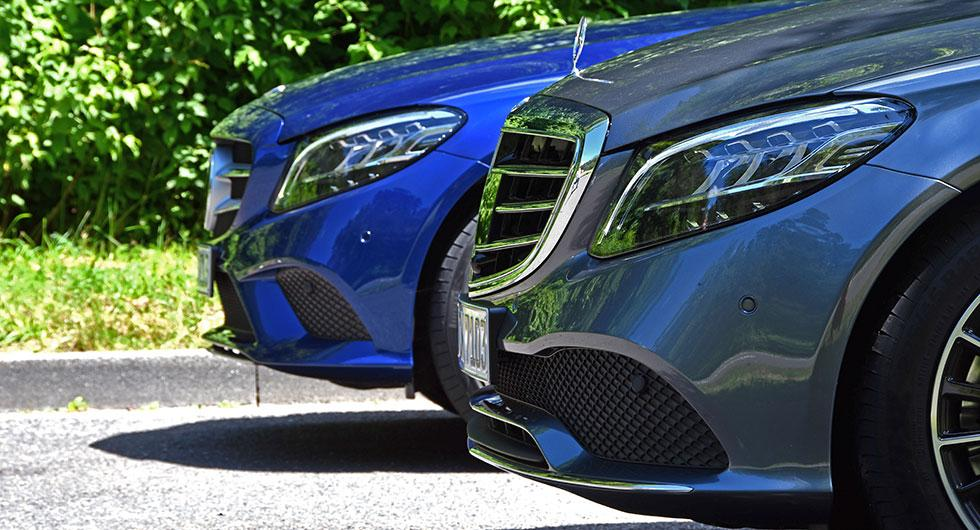 Ny nos. För svenska marknaden kommer det inte vara aktuellt med den på motorhuven stående stjärnan, den är nu förbehållen E- och S-klass.