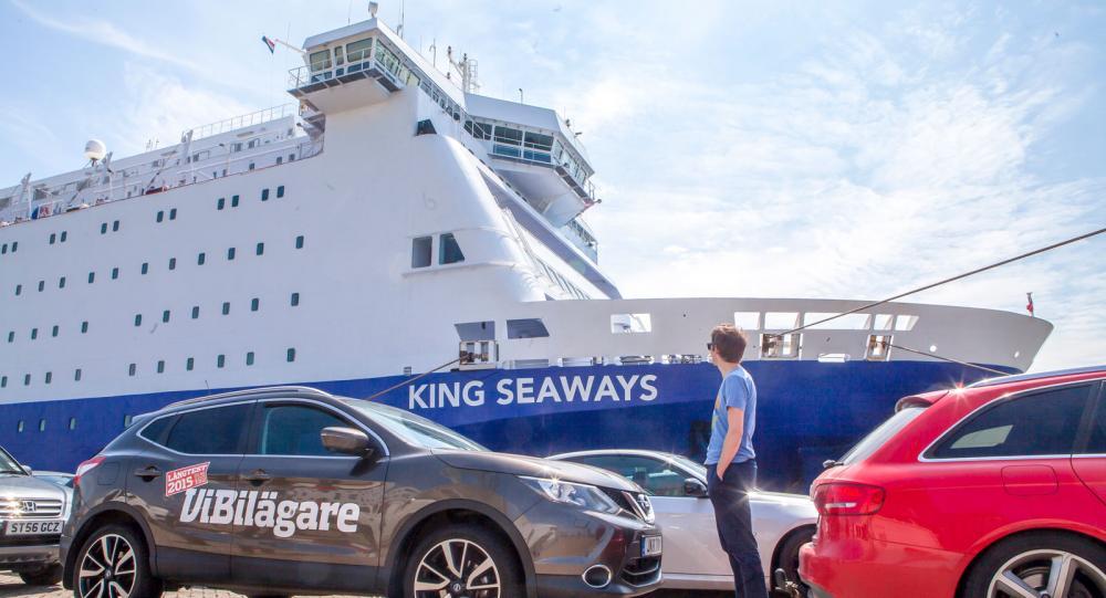 """Snart dags att borda """"Sjöfartskungen"""" i holländska IJmuiden, destination Newcastle."""
