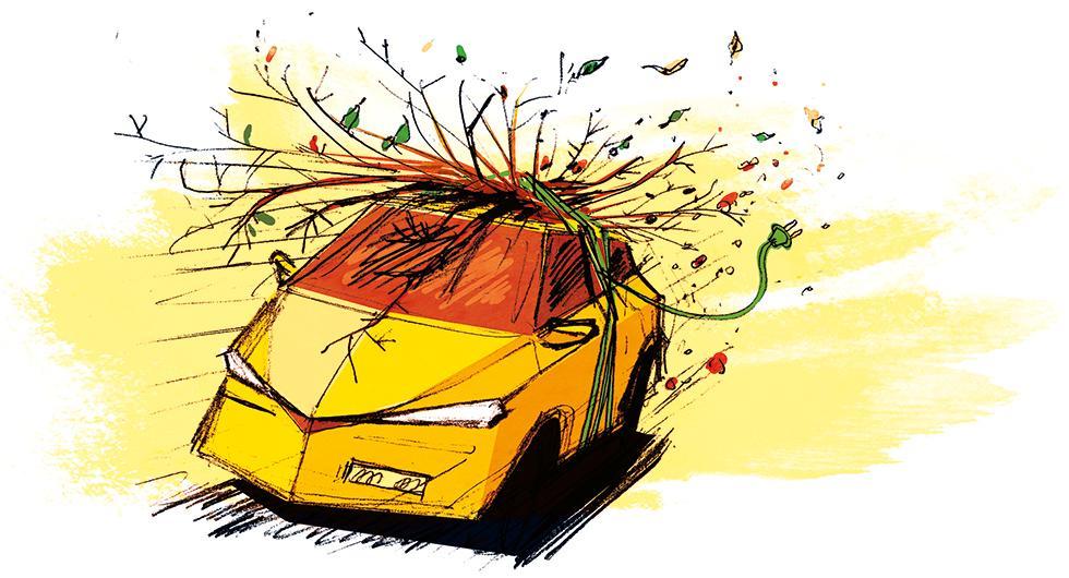 Frågeställaren söker en elbil med dragkapacitet. Illustration: Johan Isaksson.