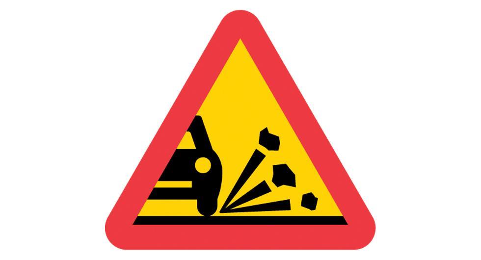 Kladdigt vägarbete skadar bilar