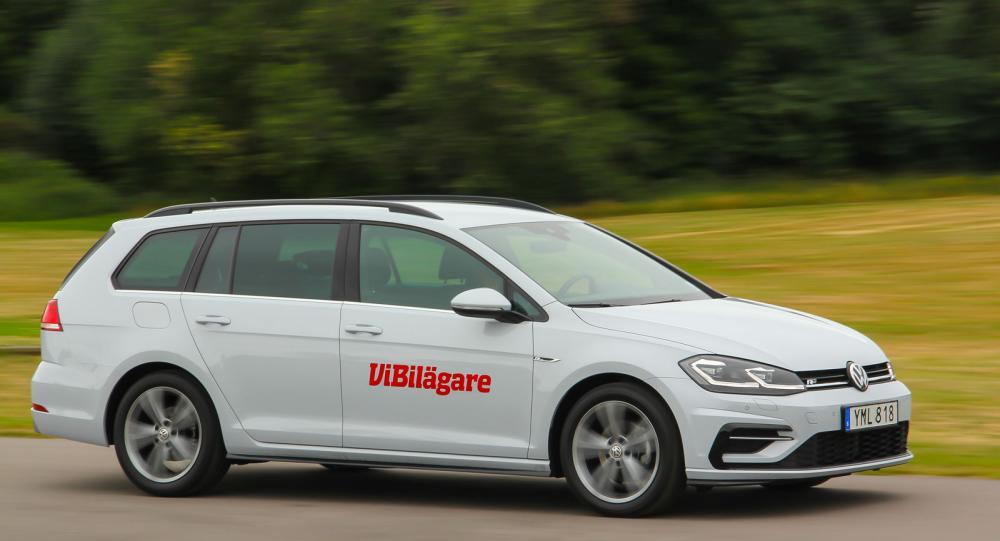 Volkswagen Golf generation sju, här i kombiutförande, är en av Sveriges mest sålda bilar de senaste åren.