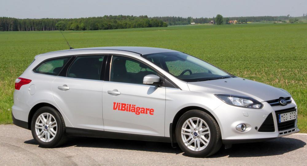 Ford Focus, här i kombimodell, är världens mest sålda bil de senare åren. Focus finns i en mängd olika utföranden.
