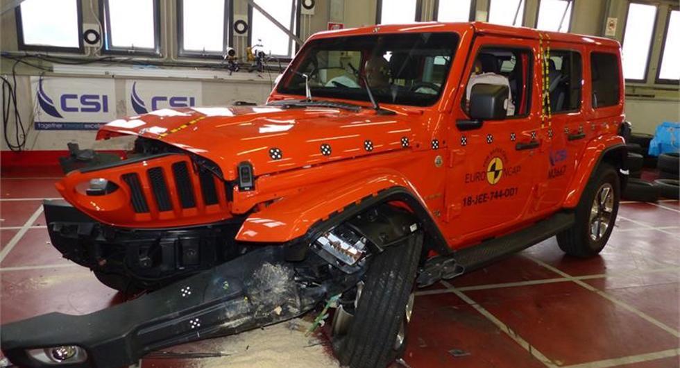 Jeep Wrangler floppar i krocktest