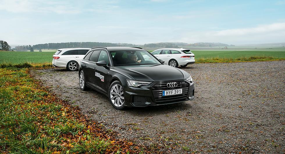 Ljustest: Audi A6 Avant, Jaguar XF Sportbrake, Mercedes-Benz E-klass kombi (2018)