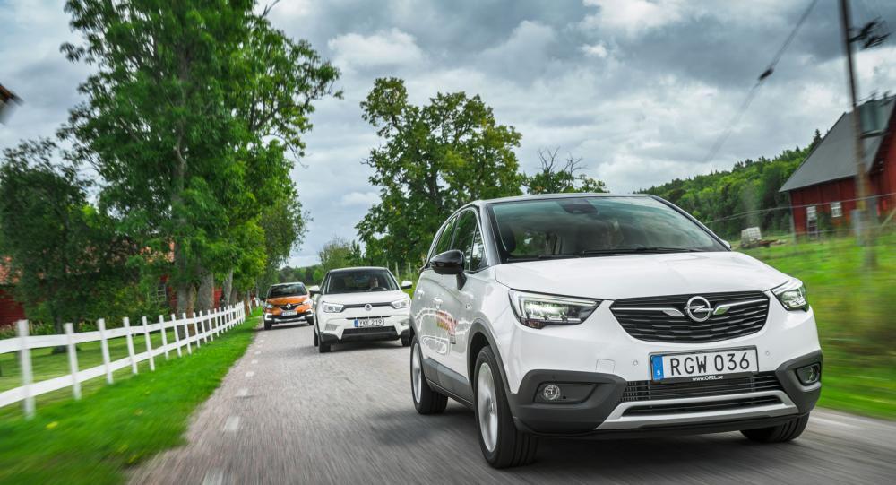 Ljustest: Opel Crossland X, SsangYong Tivoli och Renault Captur (2017)