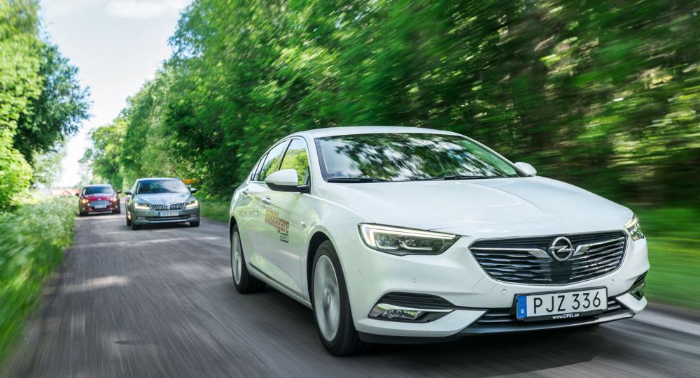 Testvärden: Opel Insignia, Skoda Superb och Ford Mondeo (2017)