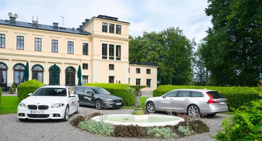 Ljustest: Volkswagen Passat, Volvo V90 och BMW 5-serie (2016)