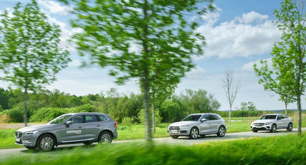 Test: Volvo XC60, Audi Q5 och Mercedes GLC (2017)