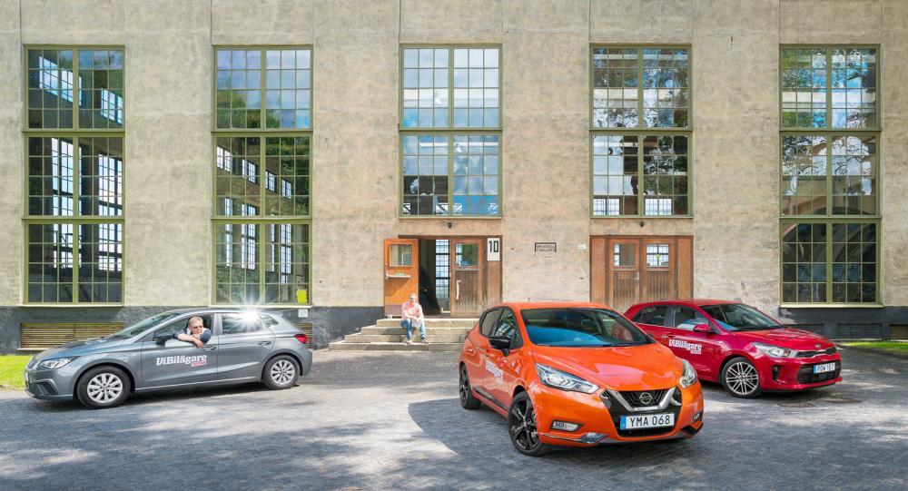 Test: Kia Rio, Nissan Micra och Seat Ibiza (2017)