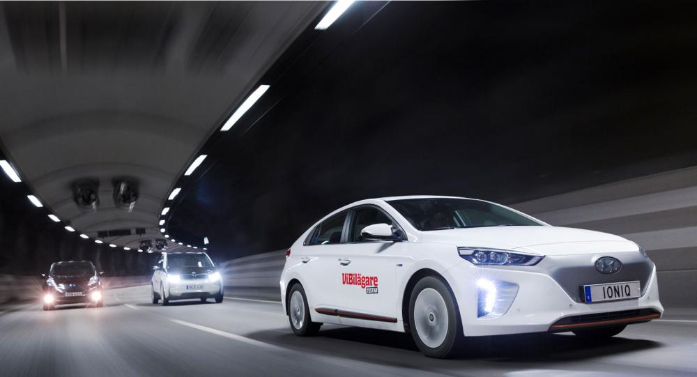 Testvärden: BMW i3, Hyundai Ioniq Electric, Nissan Leaf (2017)