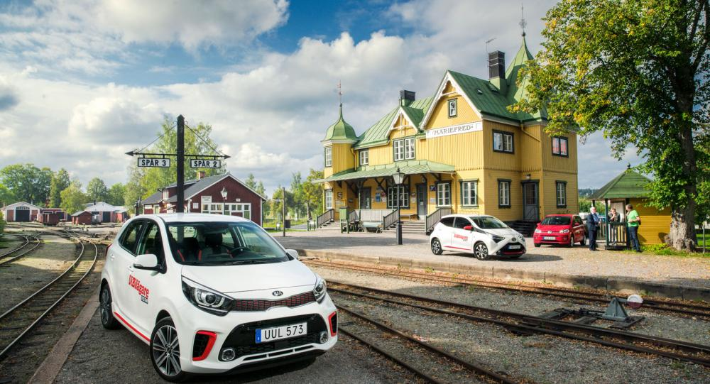 Ljustest: Kia Picanto, Toyota Aygo och Volkswagen Up (2018)