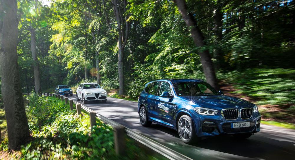 Test: Alfa Romeo Stelvio, BMW X3 och Volvo XC60 (2018)