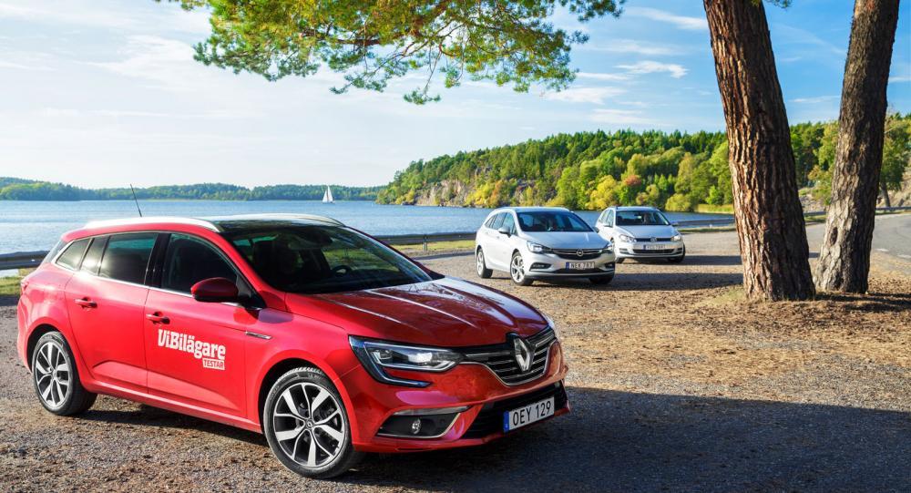 Ljustest: Opel Astra, Renault Mégane och Volkswagen Golf (2016)