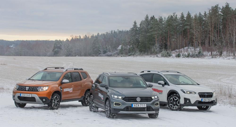 Ljustest: Dacia Duster, Subaru XV och VolkswagenT-Roc (2018)
