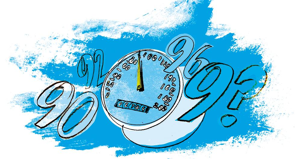 Frågeställaren undrar om det är vanligt att mätarna i bilen visar för låg hastighet. Illustration: Johan Isaksson.