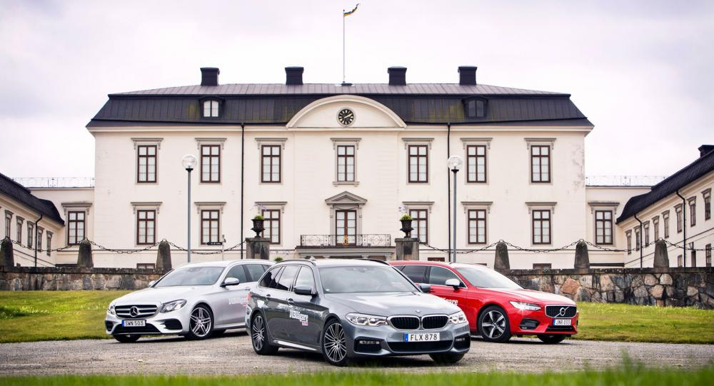 Test: 5-serie, E-klass & V90 (2017)