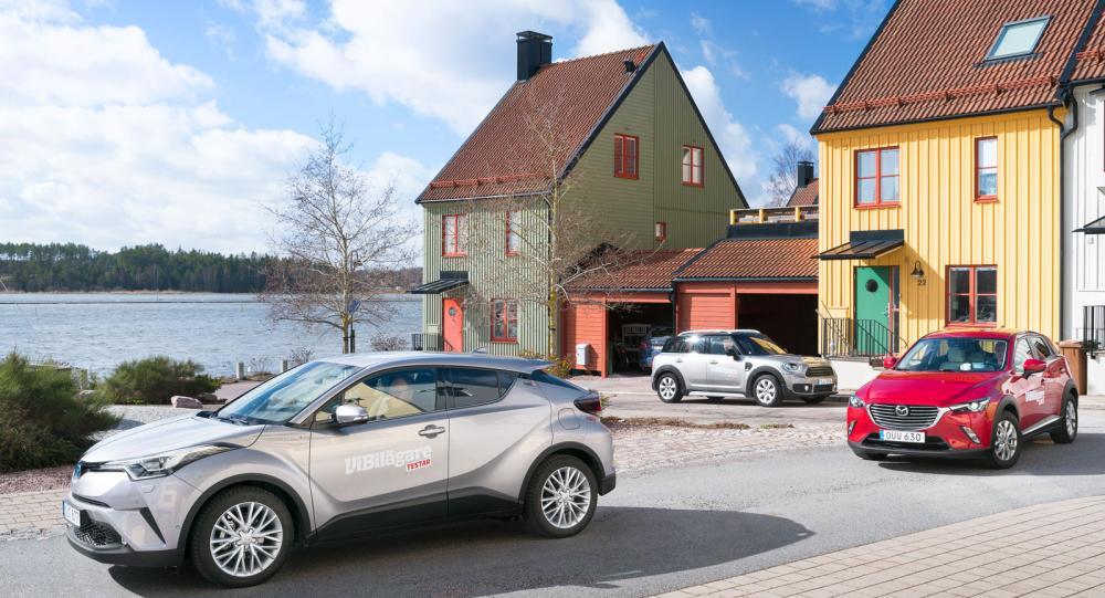 Testvärden: Toyota C-HR, Mini Countryman och Mazda CX-3 (2017)