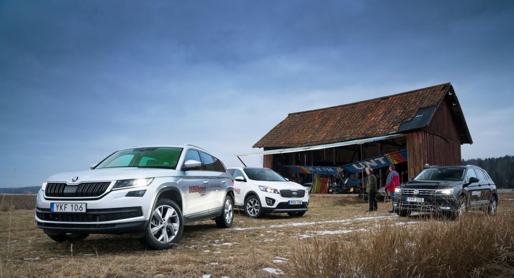 Test: Skoda Kodiaq, Kia Sorento, Volkswagen Tiguan (2017)