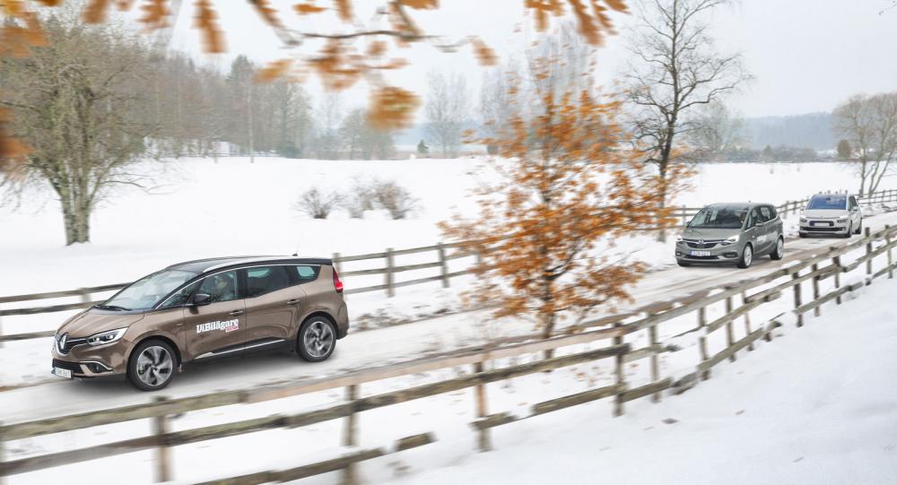 Test: Citroën C4 Grand Picasso, Opel Zafira och Renault Grand Scenic (2016)