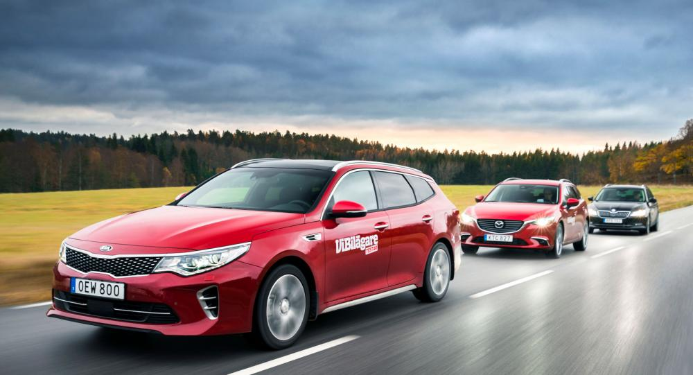 Test: Mazda 6 Wagon, Kia Optima SW och Skoda Superb Combi (2016)