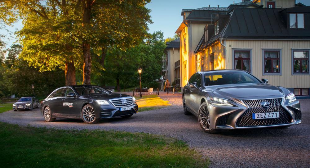 Test: Audi A8, Lexus LS och Mercedes S-klass (2018)