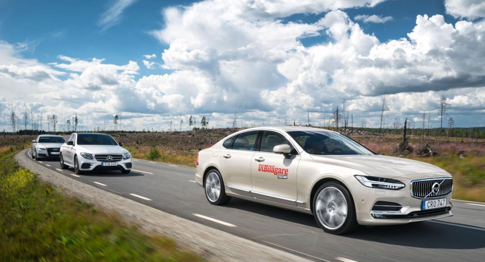 Testvärden: Volvo S90, Mercedes E-klass och Audi A6 (2016)