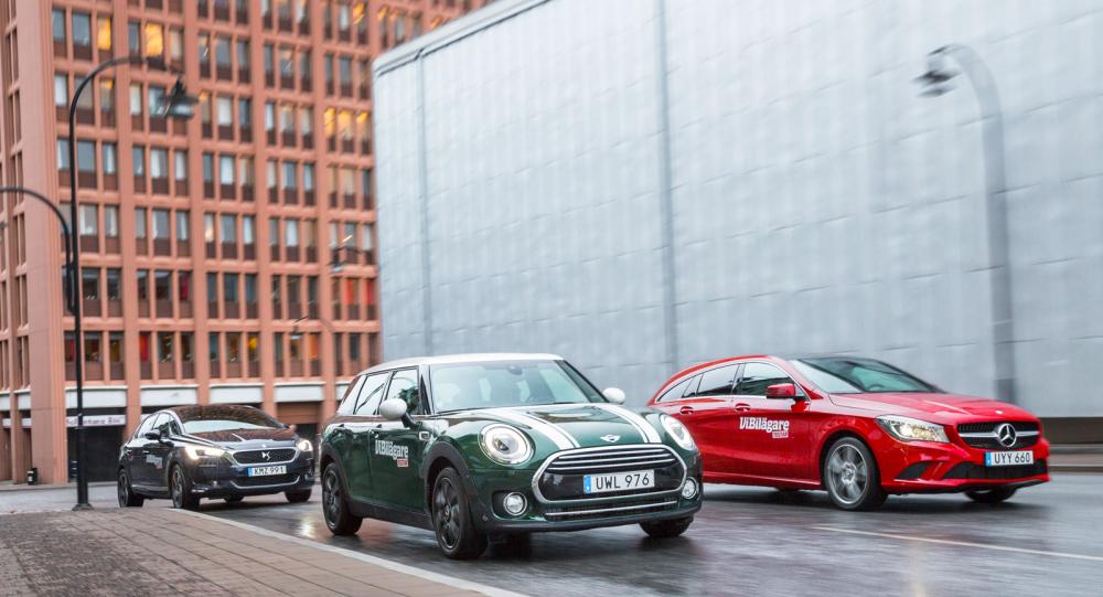 Ljustest: Mini Clubman, Mercedes CLA och DS 5 (2016)