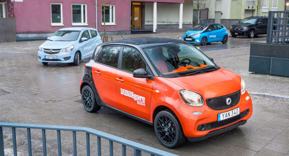 Ljustest: Opel Karl, Smart Forfour, Toyota Aygo (2016)