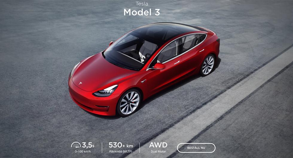 Fritt fram att bygga Model 3