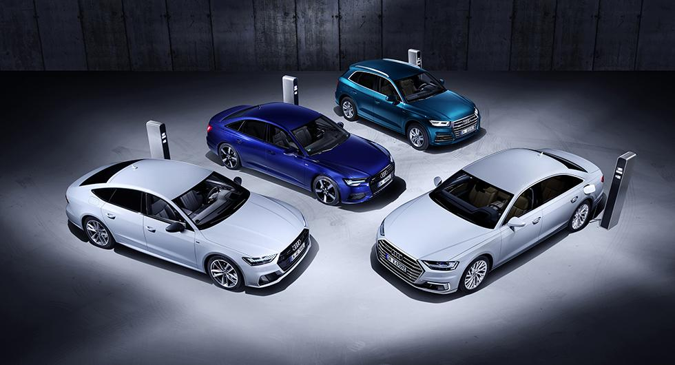 Fyra nya laddhybrider från Audi