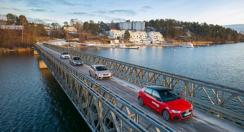 Ljustest: Audi A1 Sportback, Seat Ibiza, Skoda Fabia, Volkswagen Polo (2019)