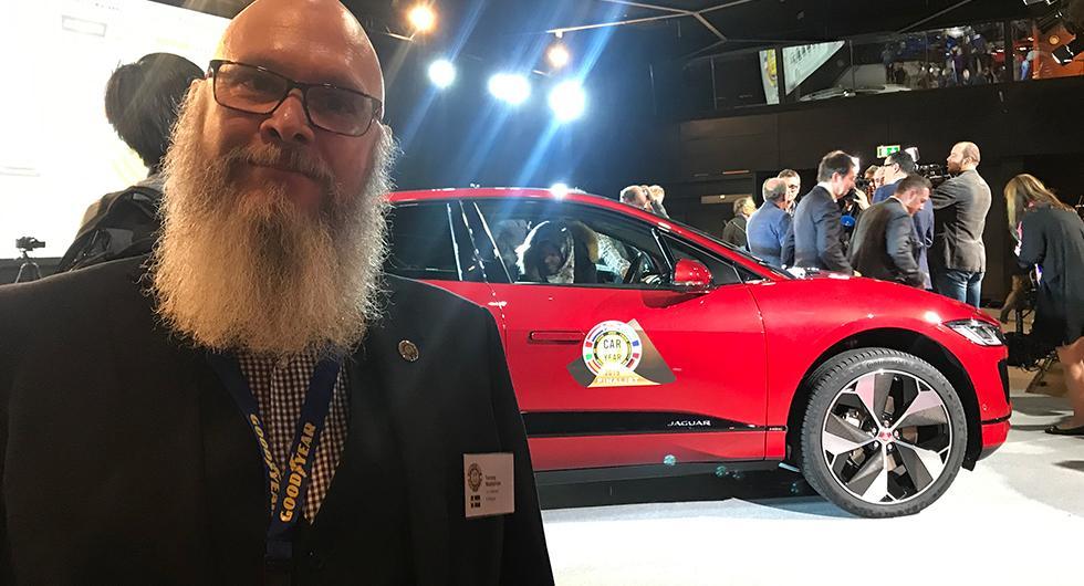 Vi Bilägares Tommy Wahlström, medlem av Årets Bil-juryn var på plats när Jaguar I-Pace utsågs till Car of the Year 2019.
