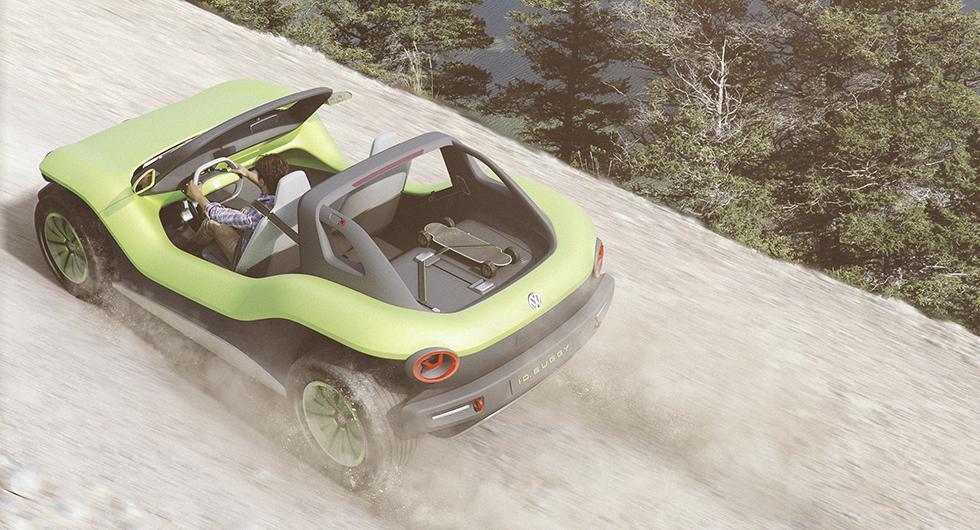 Buggy en elektrisk sandfräsare från Volkswagen