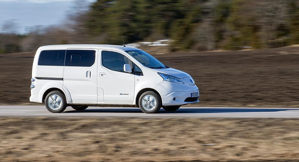 Provkörning: Nissan E-NV200 Evalia (2019)