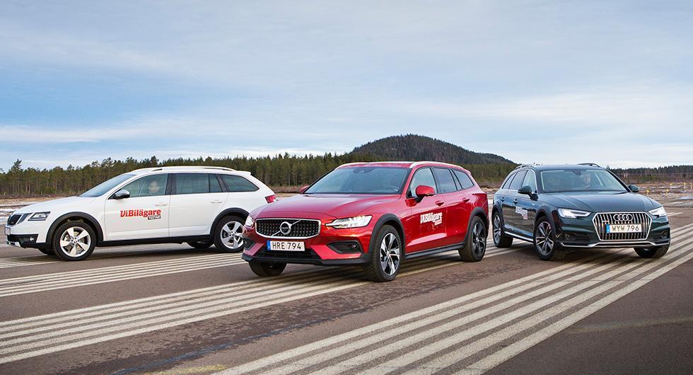 Ljustest: Audi A4 allroad, Skoda Octavia Scout, Volvo V60 Cross Country (2019)