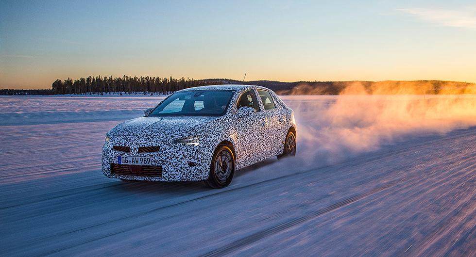 Se Opel Corsa testas i svensk vinter