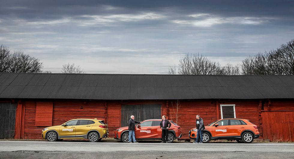 Ljustest: Audi Q3, BMW X2, Lexus UX (2019)