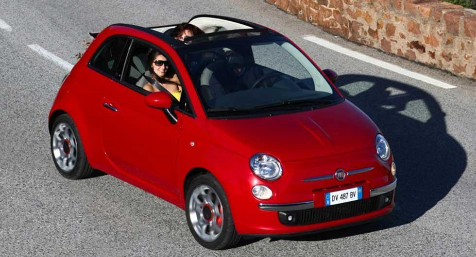 Andraplats för charmiga Fiat 500C.