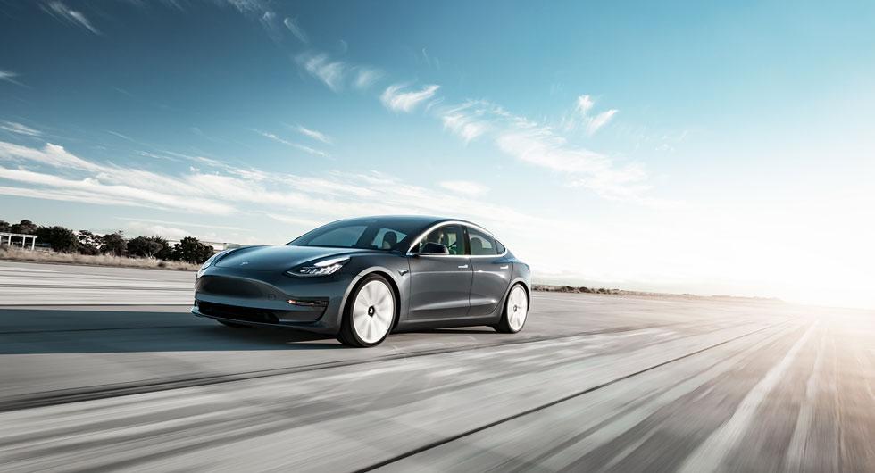 Tesla Model 3 är populär i Norge.