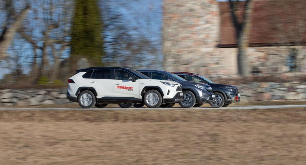 Test: Citroën C5 Aircross, Honda CR-V Hybrid och Toyota RAV4 (2019)