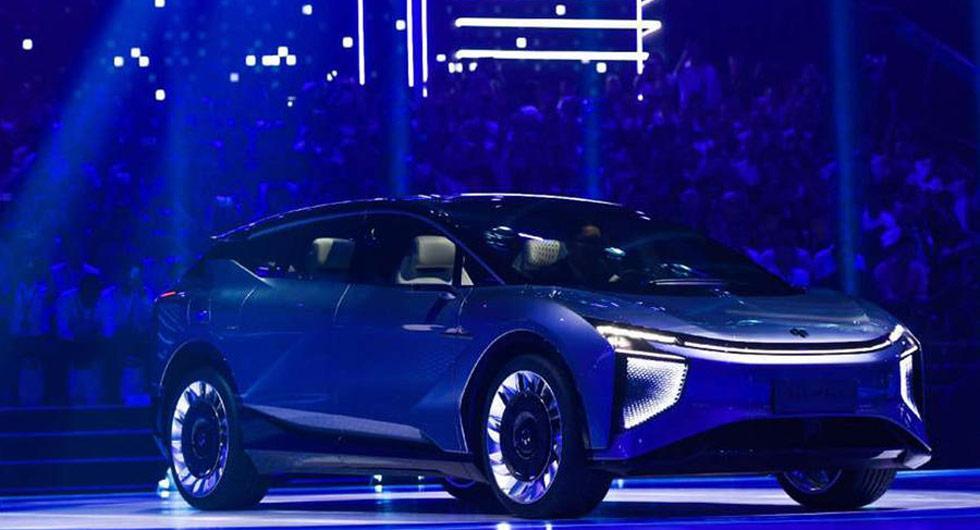 Kinesisk startup visar upp futuristisk konceptbil