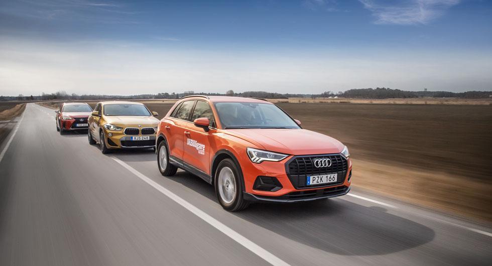 Test: Audi Q3, BMW X2 och Lexus UX (2019)