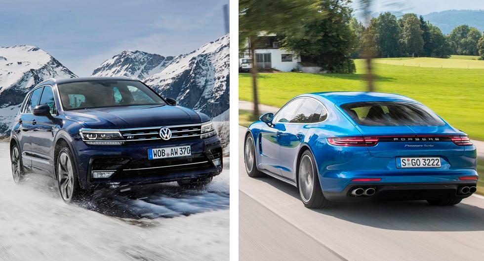Volkswagen och Porsche återkallar