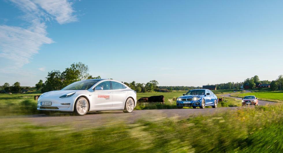 Test: Tesla Model 3, BMW 3-serie, Volvo S60