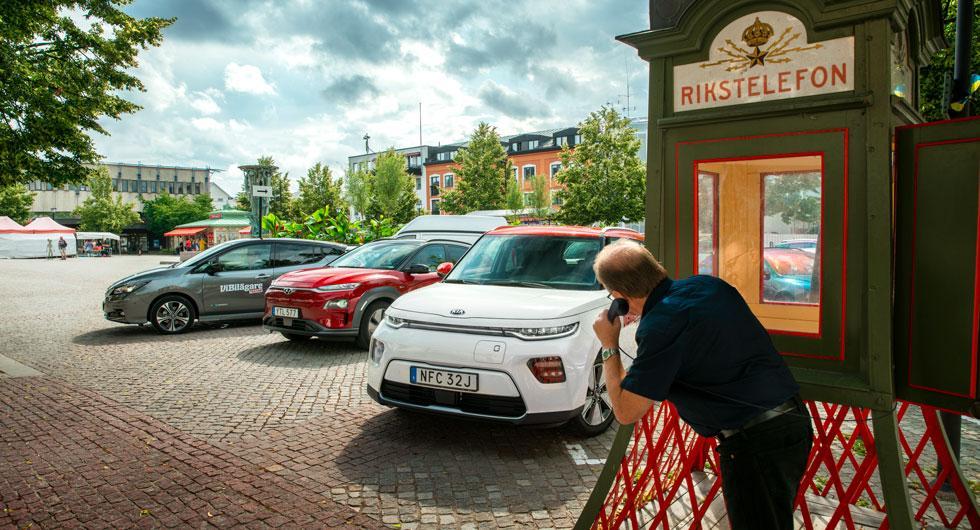 Elbilstest: Hyundai Kona Electric, Kia e-Soul och Nissan Leaf