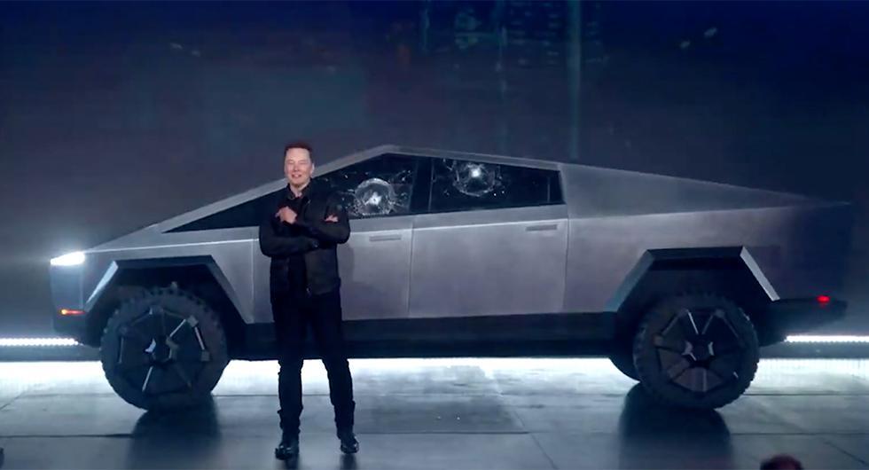 Rutor i kras när Tesla visade Cybertruck