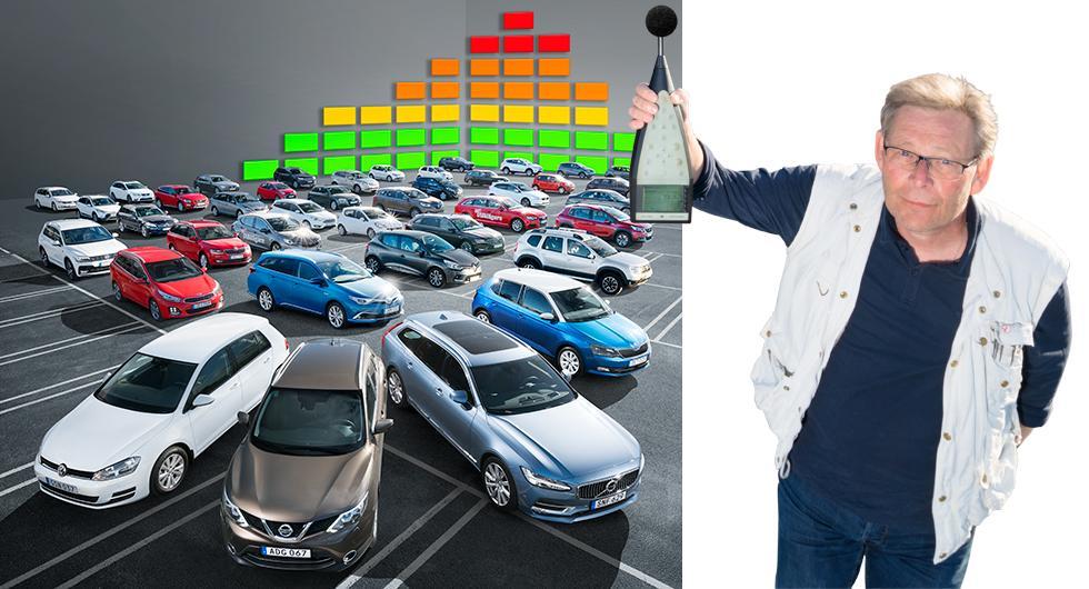 Sveriges största bullertest – 50 bilmodeller