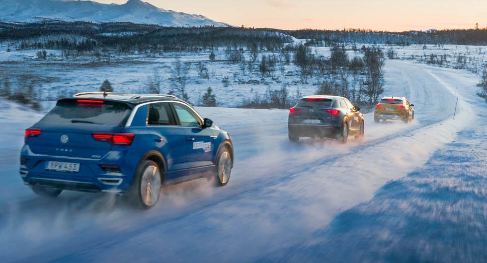 Ljustest: Kia XCeed, Mazda CX-30 och Volkswagen T-Roc (2019)